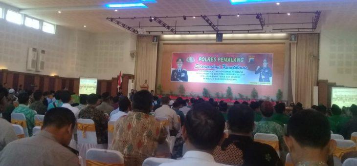 Empat Perwakilan Warga Desa Lenggerong Hadiri Silaturahmi Kamtibmas Polres Pemalang