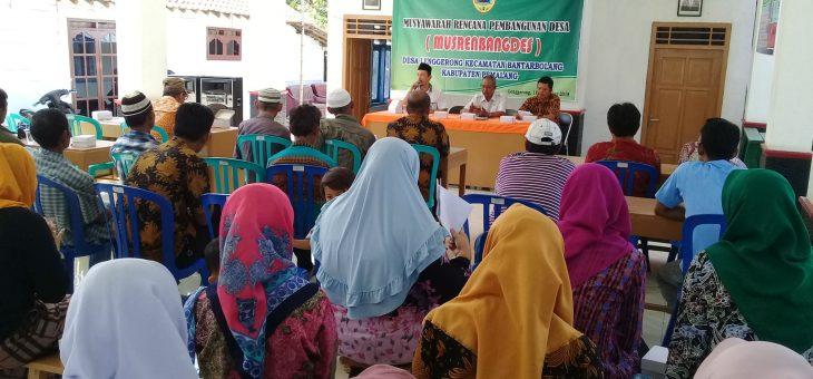Hari ini, Musrenbang Desa Lenggerong Tahun 2018 Digelar