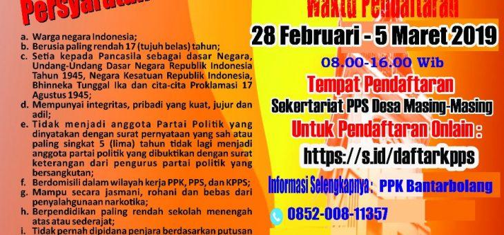 PPS Desa Lenggerong Buka Pendaftaran KPPS Pemilu 2019