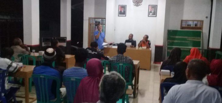 Tim Penyusun RPJMDes 2019-2024 Desa Lenggerong Telah Dibentuk