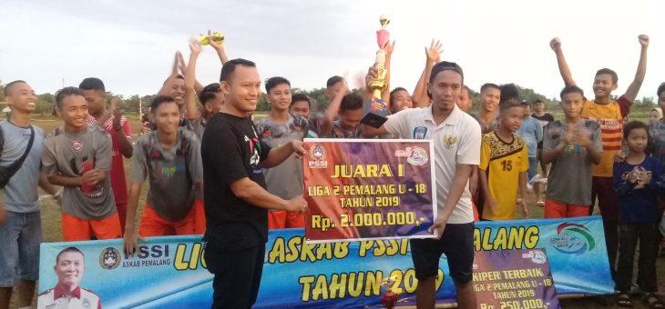 Garuda Lenggerong Juara 1 Liga 2 U-18 Pemalang Tahun 2019