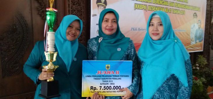 Lenggerong Raih Juara  Posyandu Terbaik 2 Tingkat Kabupaten