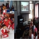 Nonton bareng prosesi Kirab Pitaka Pemalang ke-445 secara live streaming di balai desa Lenggerong